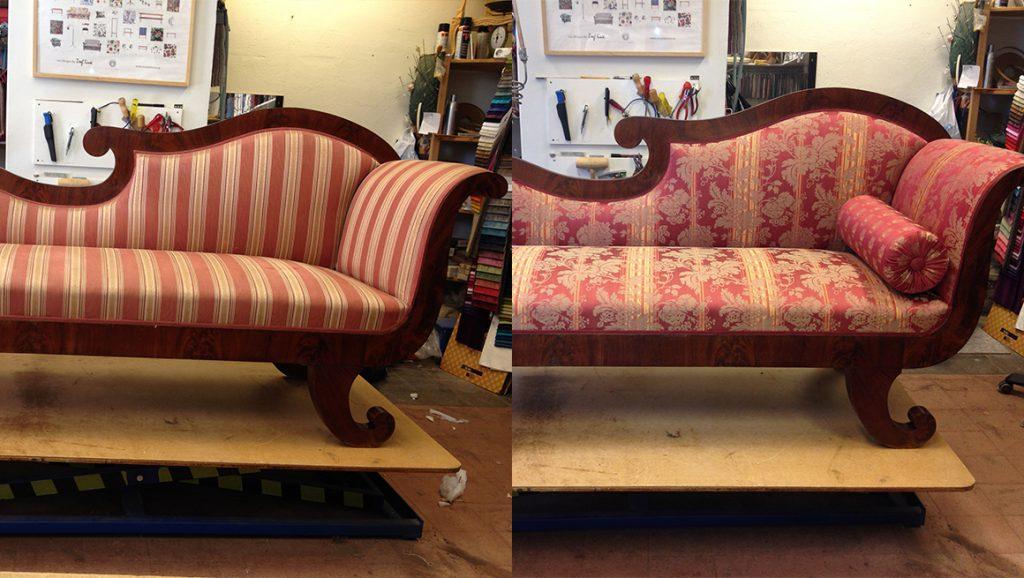 klä om antik soffa